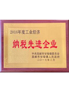 2016年度工业经济纳税先进企业